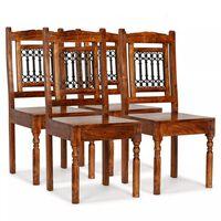 vidaXL Esszimmerstühle 4 Stk. Massivholz mit Palisander-Finish