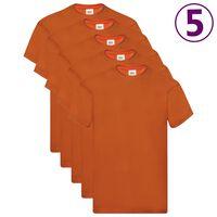 Fruit of the Loom Original T-Shirts 5 Stk. Orange XL Baumwolle