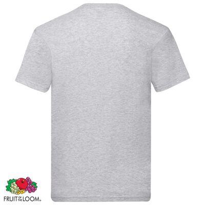 Fruit of the Loom Original T-Shirts 5 Stk. Grau XXL Baumwolle