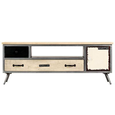 vidaXL TV-Schrank Mangoholz Massiv und Stahl 120 x 30 x 45 cm,