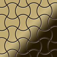 Alloy Infinit-ti-gm Metallmosaik Titan Gold