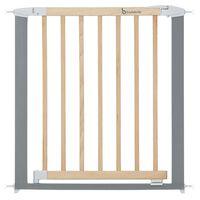 Badabulle Schutzgitter Safe & Lock Holz und Metall Grau 73-81,5 cm