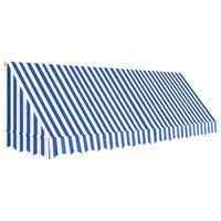 vidaXL Bistro-Markise Blau und Weiß 400 x 120 cm