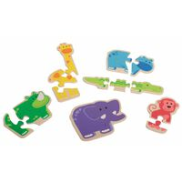 Beleduc Holz-Puzzle Happy Animal 6 Stück 18011