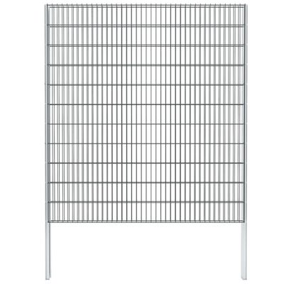 vidaXL Gabionenzaun Stahl Verzinkt 2,008x2,23 m Gesamtlänge 2 m Grau,
