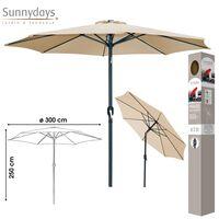 Floraya Sonnenschirm Sand / Beige Durchmesser 300 Cm