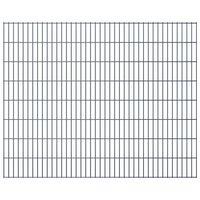 vidaXL 2D Gartenzaun-Elemente 2,008x1,63 m Gesamtlänge 28 m Grau