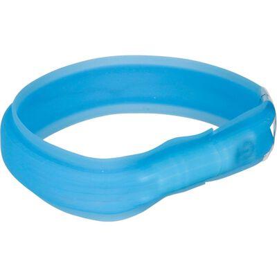 TRIXIE USB Leuchthalsband L-XL 70 cm Blau 12672