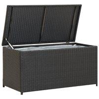 vidaXL Gartenbox Poly Rattan 100x50x50 cm Schwarz