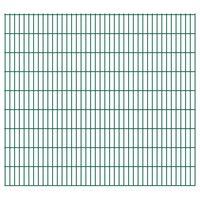vidaXL 2D Gartenzaun-Elemente 2,008x1,83 m Gesamtlänge 14 m Grün