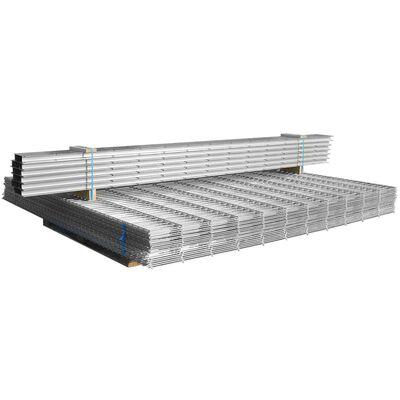 vidaXL Gabionenzaun Stahl Verzinkt 2,008x1,03 m Gesamtlänge 2 m,