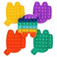Pop It Fidget Toys 5er-pack Mit Verschiedenen Farben - Schnelle Liefer