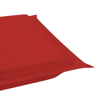 vidaXL Sonnenliegen-Auflage Rot 186x58x4 cm, Red