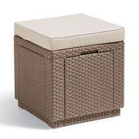 Allibert Cube Sitzhocker mit Stauraum Cappuccino 228096