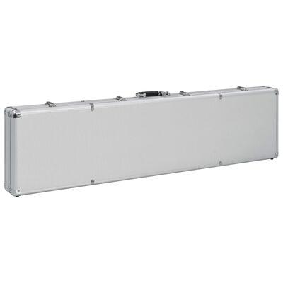 vidaXL Waffenkoffer Silbern 134×35×12 cm Aluminium