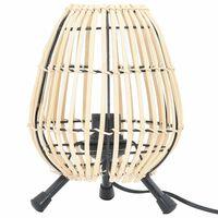 vidaXL Tischlampe Stehlampe Weide 60 W 20 x 27 cm E 27