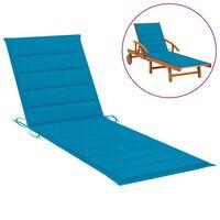 vidaXL Sonnenliegen-Auflage Blau 200x70x4 cm Stoff