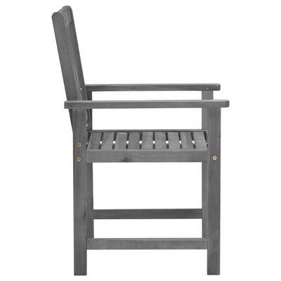 vidaXL Regiestühle mit Kissen 4 Stk. Grau Massivholz Akazie, Royalblue