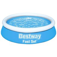 Bestway Fast Set Aufblasbarer Pool Rund 183x51 cm Blau