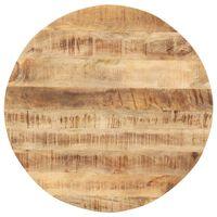 vidaXL Tischplatte Massivholz Mango Rund 15-16 mm 60 cm