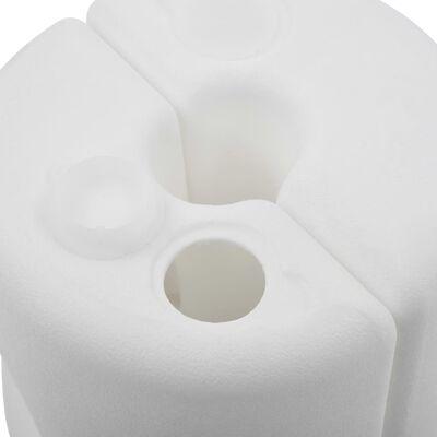 vidaXL Pavillon-Gewichte 4 Stk. PE Weiß, Weiß
