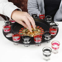 HI Roulette-Trinkspiel Roulette Schwarz