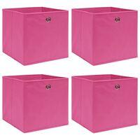 vidaXL Aufbewahrungsboxen 4 Stk. Rosa 32×32×32 cm Stoff