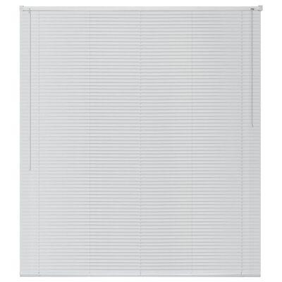 vidaXL Fensterjalousien Aluminium 100x160 cm Weiß, White