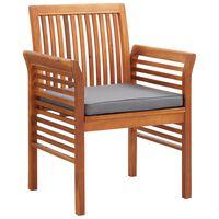 vidaXL Garten-Essstühle mit Sitzpolster 2 Stk. Akazie Massivholz