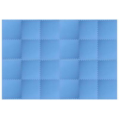 vidaXL Bodenmatten 24 Stk. 8,64 m² EVA-Schaum Blau