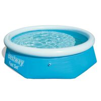 Bestway Fast Set Aufblasbarer Swimmingpool Rund 244x66 cm 57265