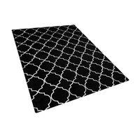 Teppich Schwarz/silber 160 X 230 Cm Marokkanisches Muster Yelki