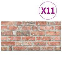 vidaXL 3D-Wandverkleidungen 11 Stk. Rot Steinoptik EPS