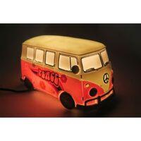 Nachtlampe Tischlampe Retro Bus Ibiza Peace Pink
