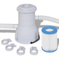 vidaXL Pool-Filterpumpe 800 gal/h