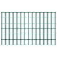 vidaXL 2D Gartenzaun-Elemente 2,008x1,23 m Gesamtlänge 24 m Grün