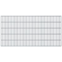 vidaXL 2D Gartenzaun-Elemente 2,008x1,03 m Gesamtlänge 14 m Grau