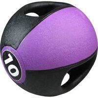 Pure2Improve Medizinball mit Griffen 10 kg Lila