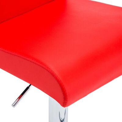 vidaXL Barhocker 2 Stk. Rot Kunstleder, Red