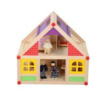 Marionette - Holzpuppenhaus - Mit Möbel Und Puppen - 11-teilig