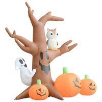 vidaXL Aufblasbarer Halloween-Geisterbaum mit Kürbissen 6 LEDs 2,6 m