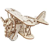 WOODEN CITY Modellbauaufsatz Holz Doppeldecker