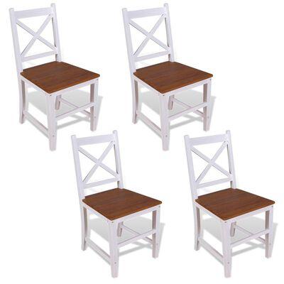 vidaXL Esszimmerstühle 4 Stk. Massivholz Teak Mahagoni