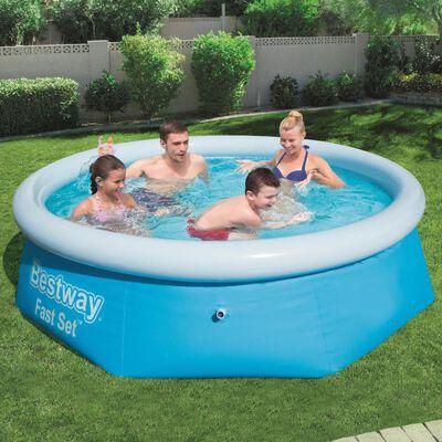 Bestway Fast Set Aufblasbarer Swimmingpool Rund 244x66 cm 57265 ,