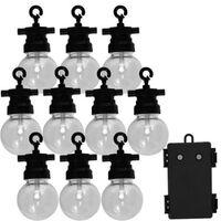 Luxform Garten-Partyleuchten-Set mit 10 LEDs Fiji