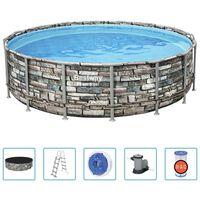 Bestway Power Steel Swimmingpool-Set 488x122 cm