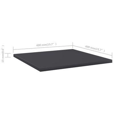 vidaXL Bücherregal-Bretter 4 Stk. Grau 40x40x1,5 cm Spanplatte , Grey