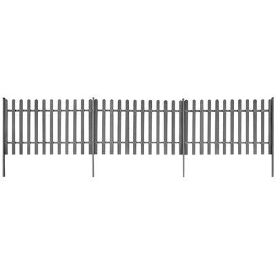 vidaXL Lattenzaun mit Pfosten 3 Stück WPC 600x100 cm,