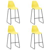 vidaXL Barhocker 4 Stk. Gelb Kunststoff