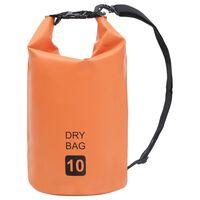 vidaXL Trockensack Orange 10 L PVC